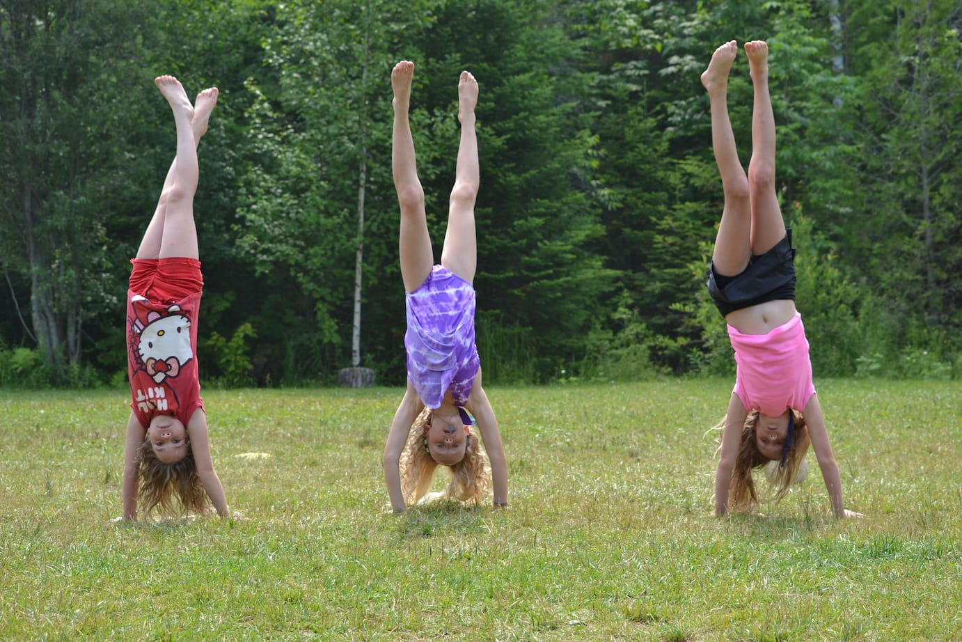Handstands on the play field