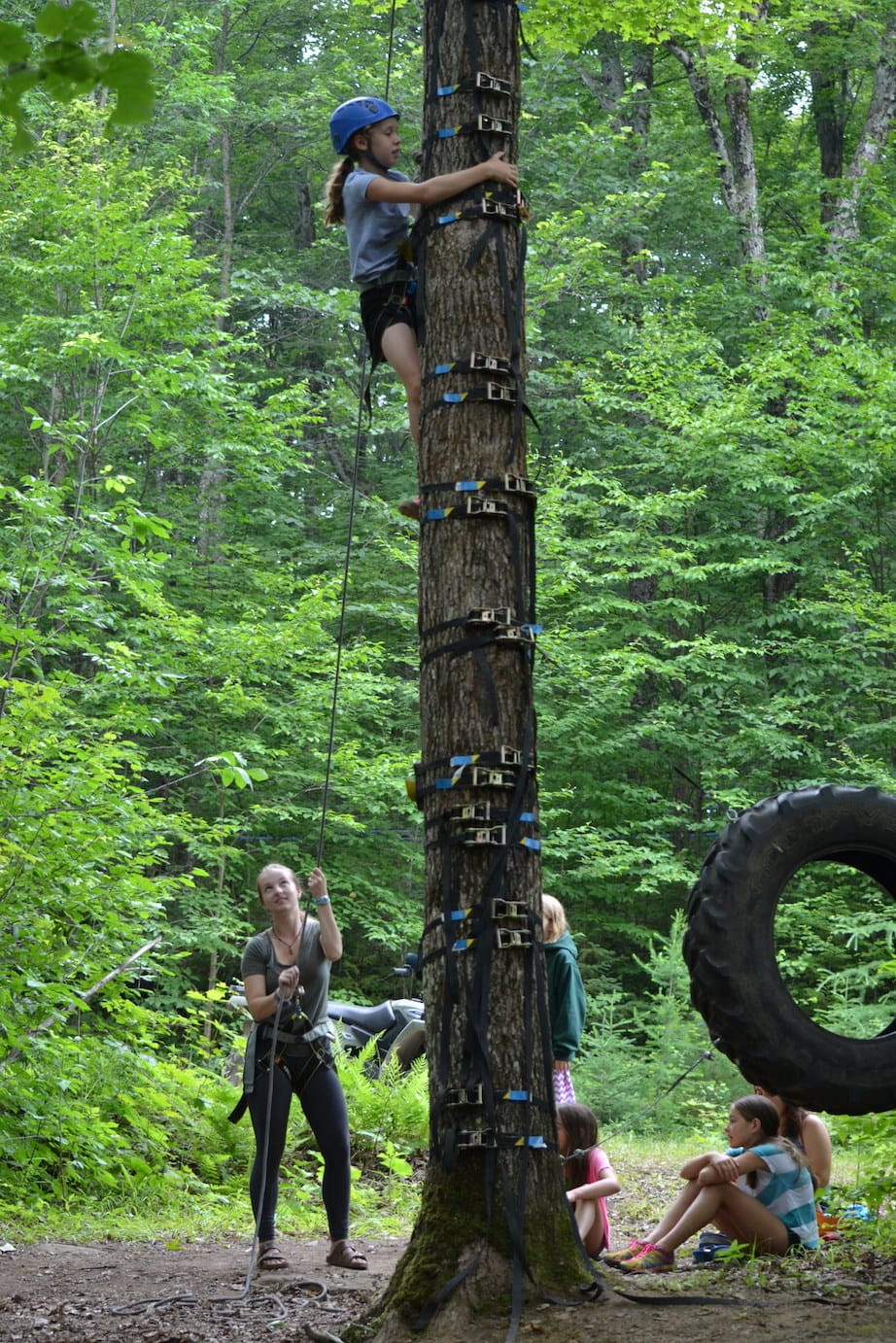 Introducing the Tree Climbing initiative at camp