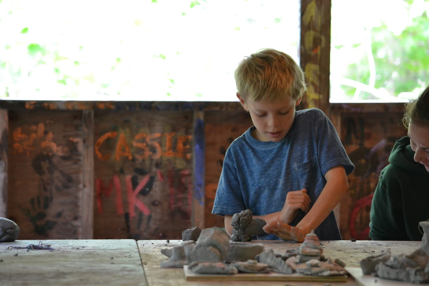 Enjoying Clay at Camp