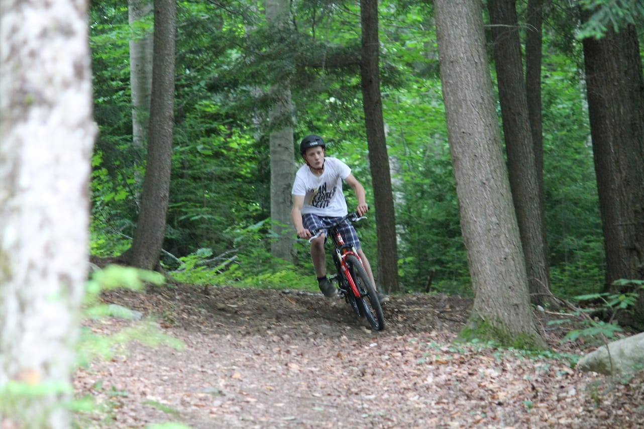 Mountain biking on the trails at Can-Aqua