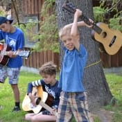 The end of the guitar class at Can-Aqua