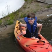 Getting into the kayak
