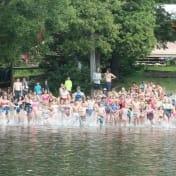 The start of the Can-Aqua lake swim!