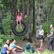Campers in the adventure program are challenged to work together