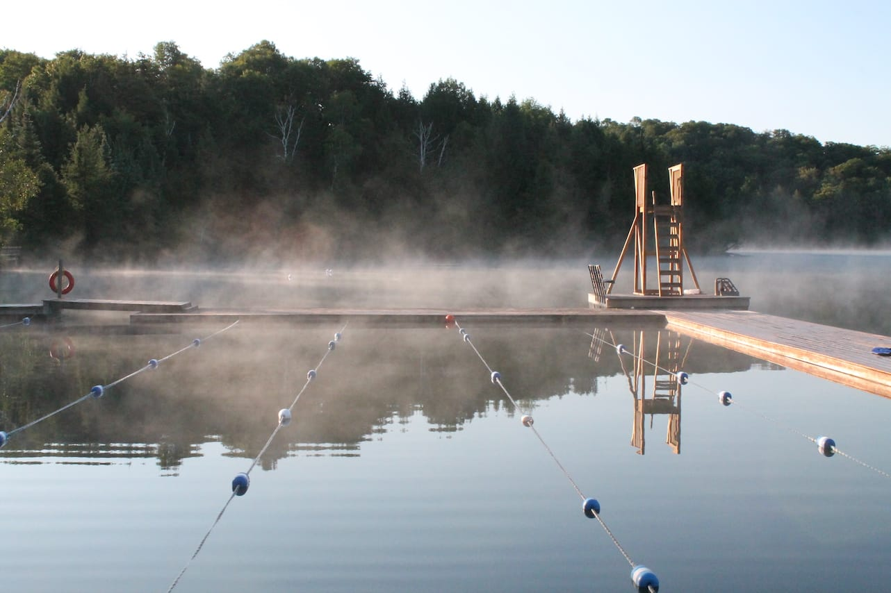 Camp Can-Aqua at sunrise