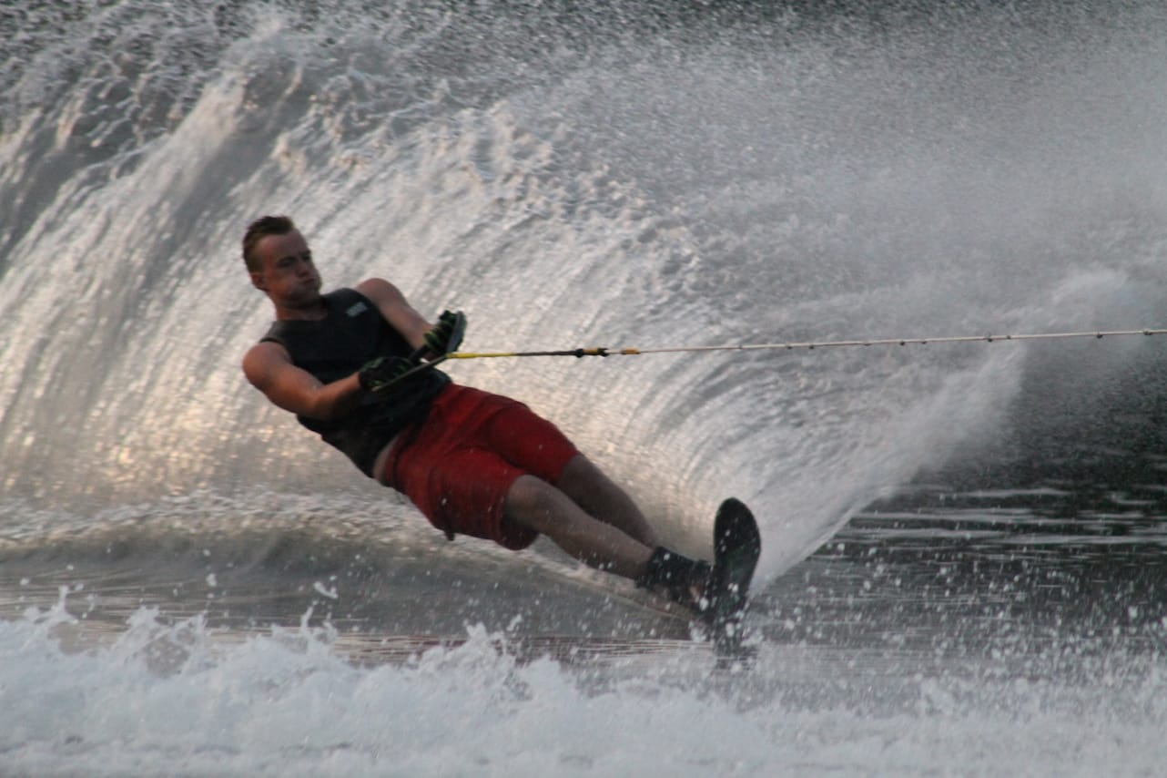Deep cuts during waterski instruction