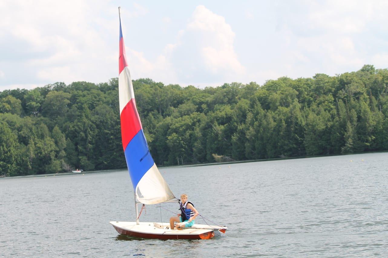 Solo Sailing at Can-Aqua