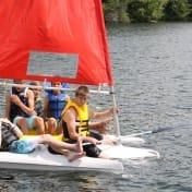 Sailing on Beaver Lake