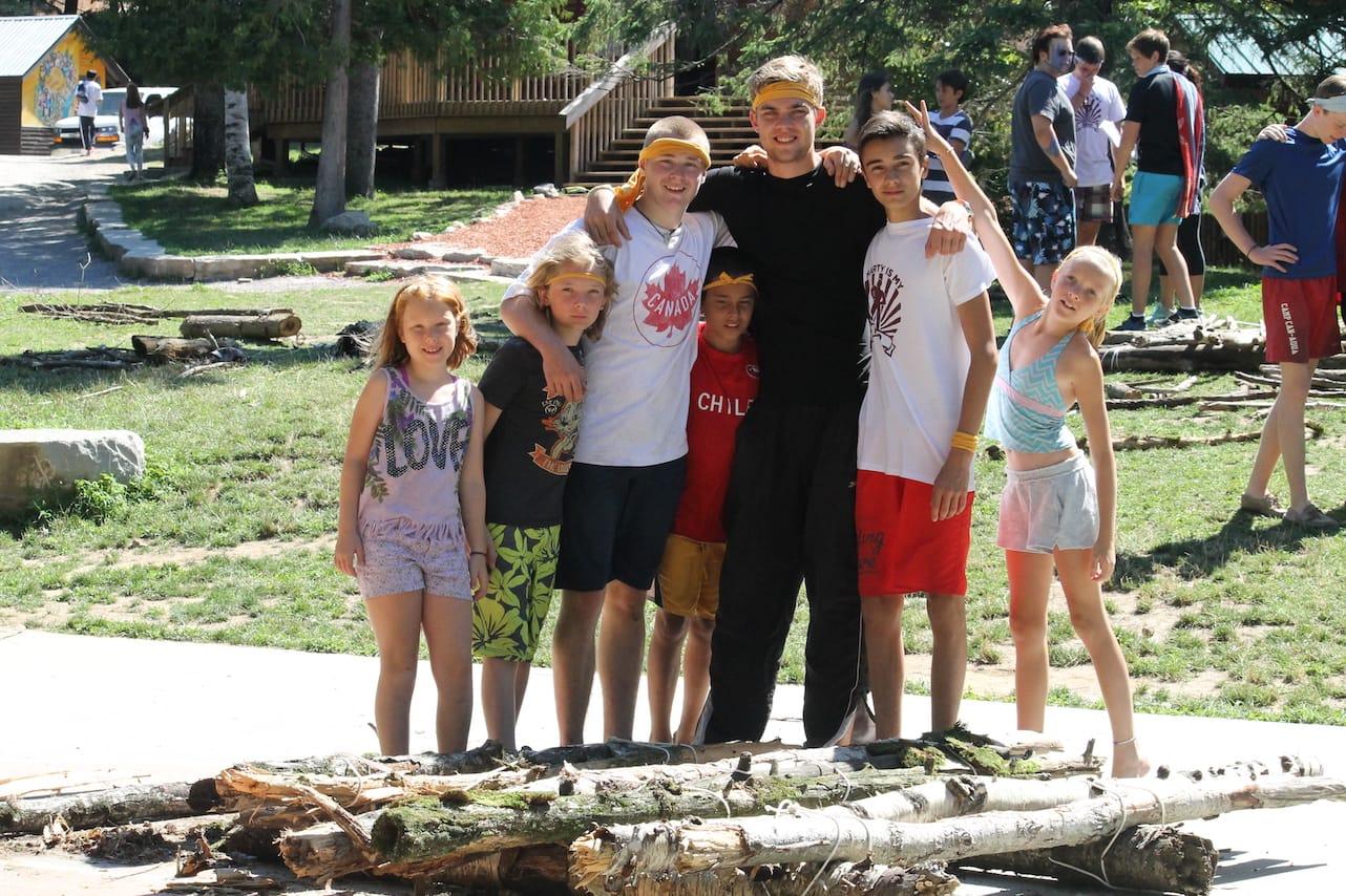 Ontario Camp Can-Aqua Summer Camp team yellow
