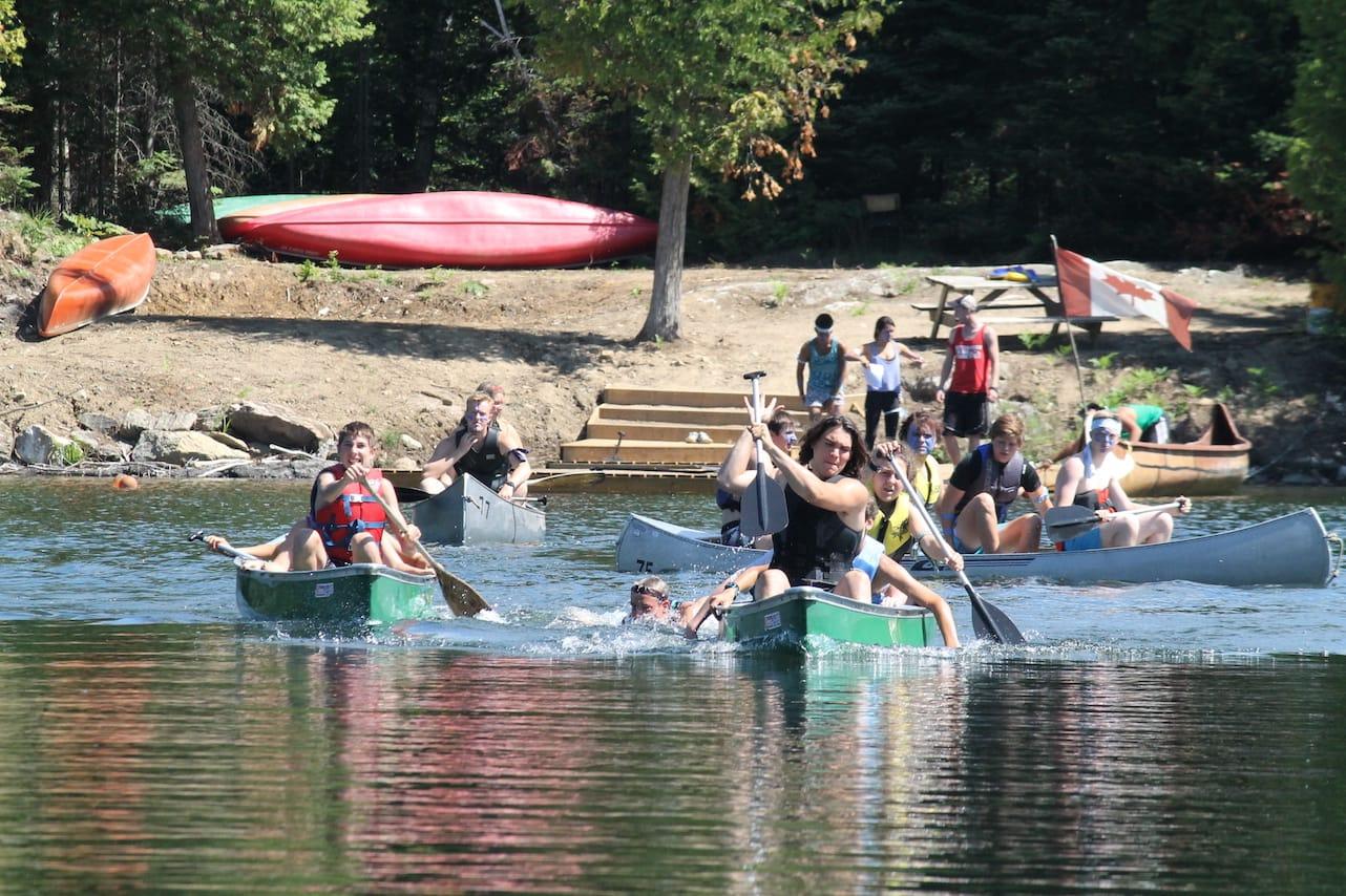 Ontario Camp Can-Aqua Summer Camp canoe docks