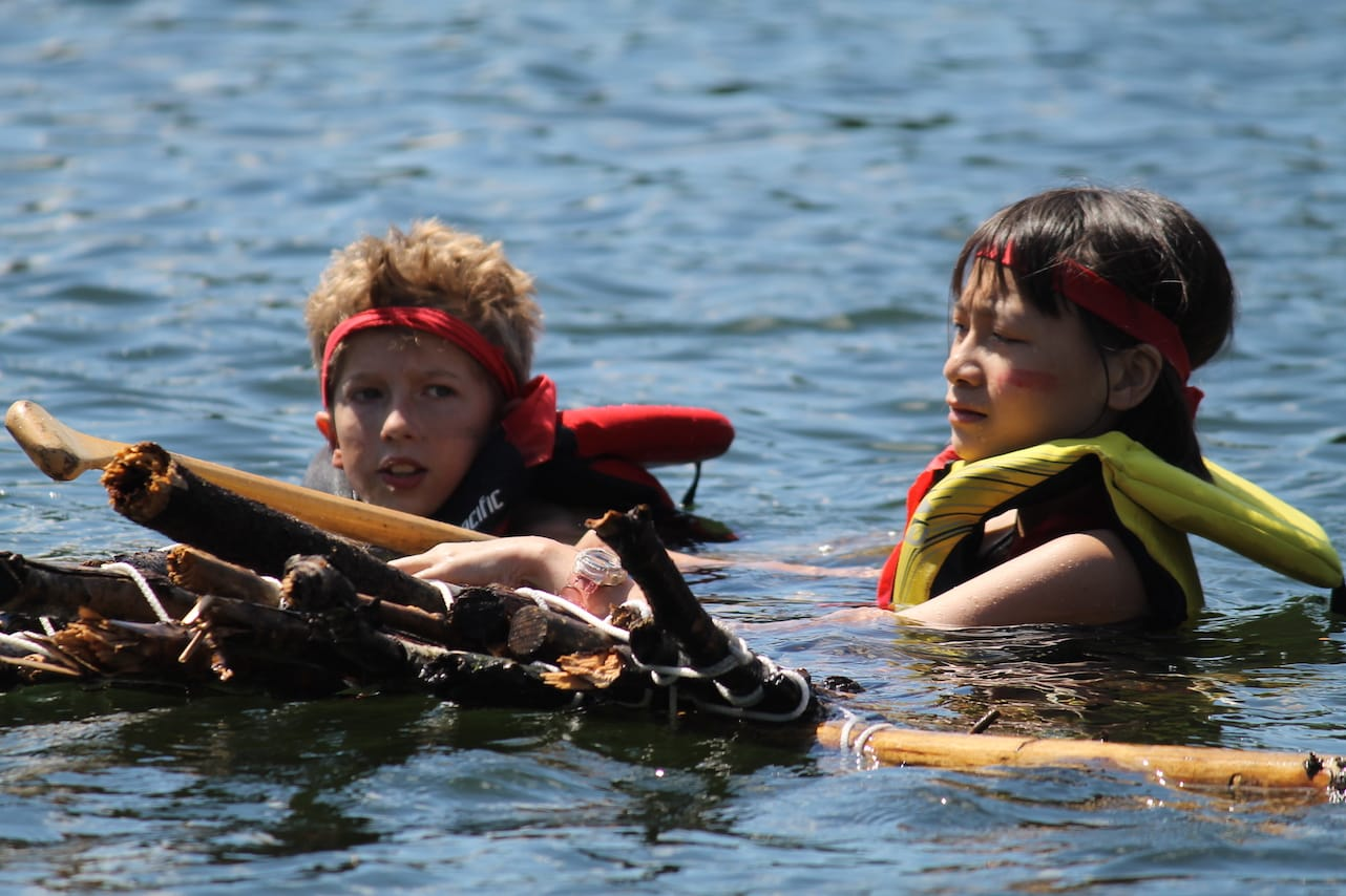 Ontario Camp Can-Aqua Summer Camp raft race