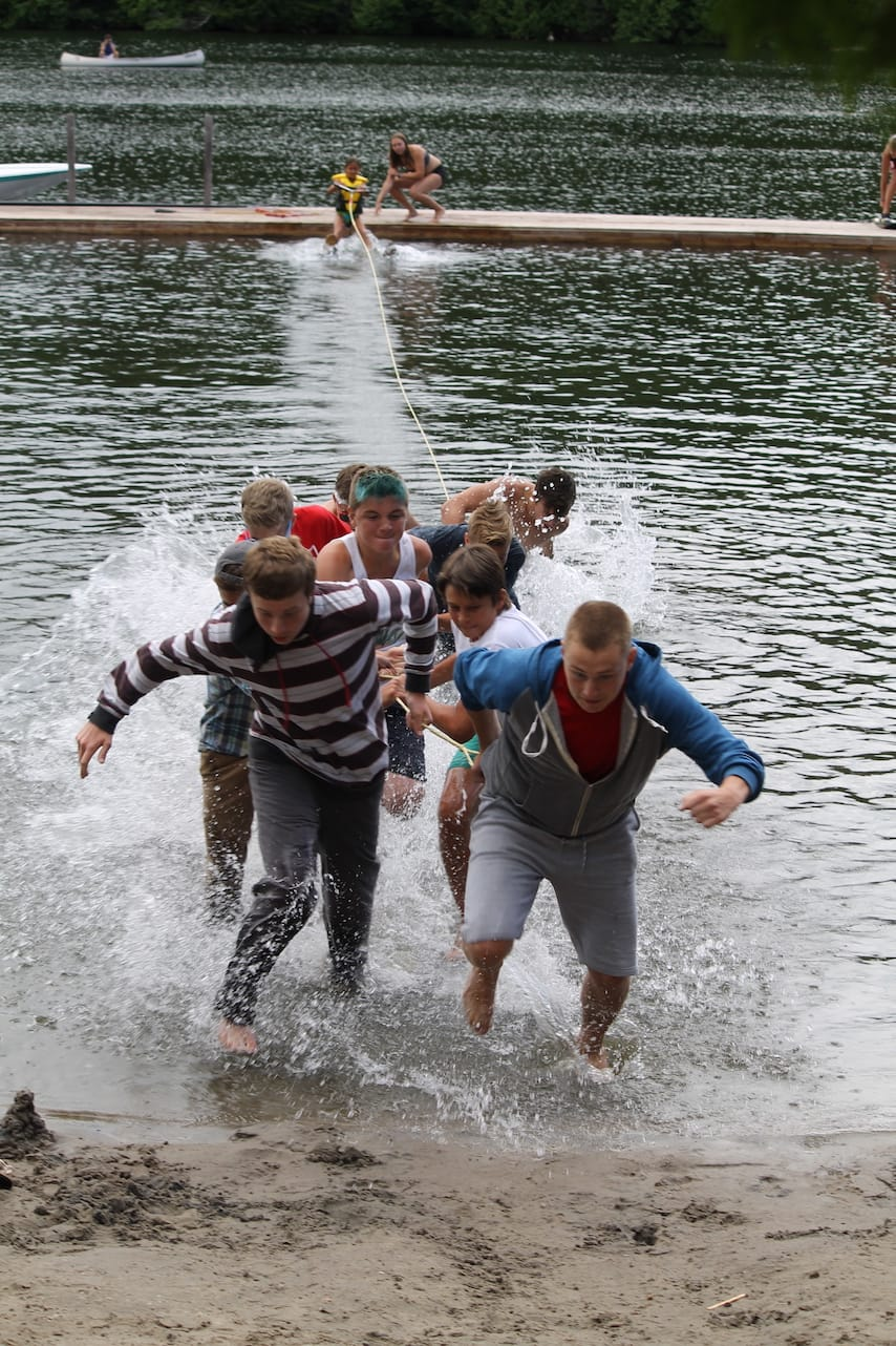 Ontario Summer Camp Can-Aqua old school waterski