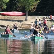 Ontario Camp Can-Aqua Summer Camp canoe docks