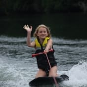 Kneeboarding at Camp
